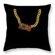 Miami Swag Gold Chain Necklace Throw Pillow