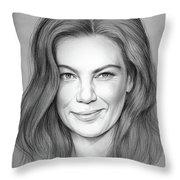 Michelle Monaghan Throw Pillow