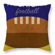 Michigan Football Minimalist Retro Sports Poster Series 001 Throw Pillow