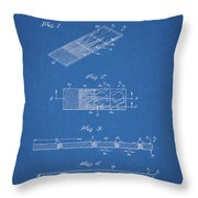 Microscope Slide Patent Throw Pillow