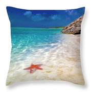 Middle Caicos Tranquility Awaits Throw Pillow