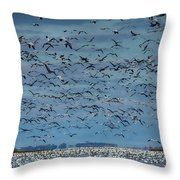Migration Of The Snow Geese Throw Pillow