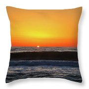 Mike's First Sunrise Throw Pillow by Mike Hudson