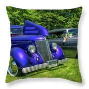 Mild Customs 1936 Ford And 1953 Chevy Throw Pillow