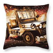 Military Machine Throw Pillow