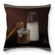Milk And Honey  Throw Pillow