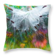 Milking The Weed Throw Pillow