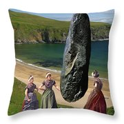 Milkmaids At The Monolith Throw Pillow