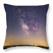Milky Way In Val D'orcia Throw Pillow