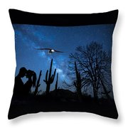 Milky Way Proposal Throw Pillow