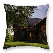 Miller Barn 1 Throw Pillow by Heather Kenward