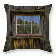 Miller Barn 2 Throw Pillow by Heather Kenward
