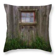 Miller Barn 3 Throw Pillow by Heather Kenward