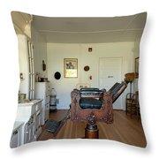 Milner Barbershop - Allensworth State Park Throw Pillow