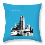 Milwaukee Skyline - 4 - Coral Throw Pillow
