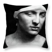 Minerva Without Helmet, 1896 Throw Pillow