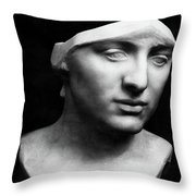 Minerva Without Helmet, 1896 Throw Pillow