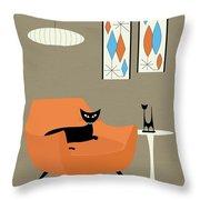 Mini Gravel Art Orange Chair Throw Pillow