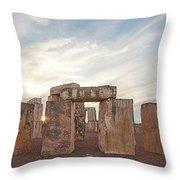 Mini Stonehenge Throw Pillow by Scott Cordell