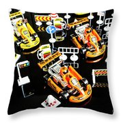 Miniature Motorsports Throw Pillow