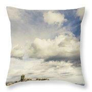 Minimal Mountaintop Meadow Throw Pillow