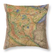 Minnesota Historic Wagon Roads Hand Painted Throw Pillow