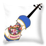 Minnesota State Fiddle Throw Pillow