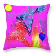 Mirage 2a Throw Pillow