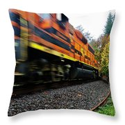 Missed The Train Throw Pillow