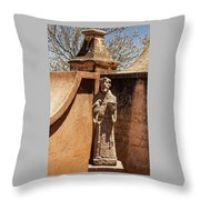Mission San Xavier Del Bac - Scenes From The Yard - 2 Throw Pillow