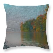 Mississippi Rivers Edge Throw Pillow