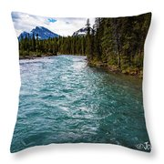 Mistaya River Blues Throw Pillow