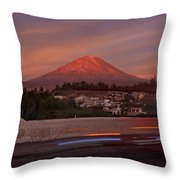 Misti Volcano In Arequipa, Peru, South America Throw Pillow by Sam Antonio Photography
