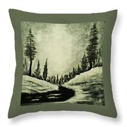 Misty Dawn Number Three Throw Pillow
