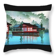 Miyajima In The Mist - Digital Remastered Edition Throw Pillow