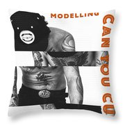 Modelling Can You Cut It? Throw Pillow by ISAW Company