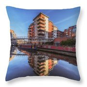 Modern Canal Living Throw Pillow