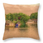 Molesey Lock And Weir Throw Pillow