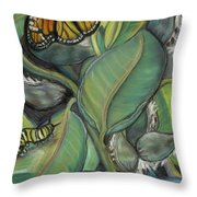 Monarch Series I Throw Pillow