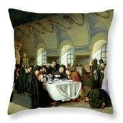 Monastic Refectory Throw Pillow