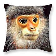 Monkey 2 Throw Pillow