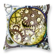 Monocle Machinery Throw Pillow