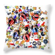 Monster Toy Soldiers Throw Pillow