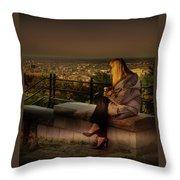 Mont-royal Sunset Throw Pillow by Juan Contreras