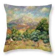Mont Sainte-victoire, 1889 Throw Pillow
