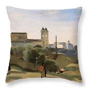 Monte Pincio, Rome Throw Pillow