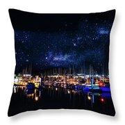 Monterey Bay At Night Throw Pillow