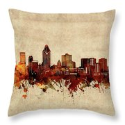 Montreal Skyline Sepia Throw Pillow