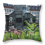Monument Square Throw Pillow