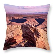 Monument Valley At A Distance Throw Pillow